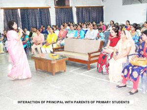 INTERACTION OF PRINCIPAL WITH PARENTS